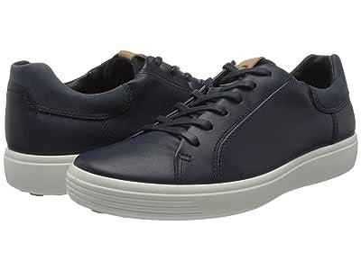 ECCO Soft 7 Street Sneaker (Marine/Marine/Navy) Men