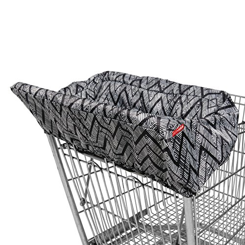 Skip Hop Shopping Cart and Baby High Chair Cover, Take Cover, Zig Zag Zebra