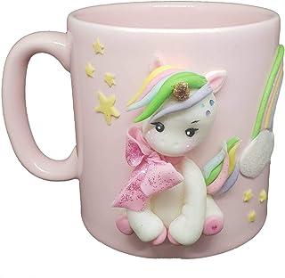 - FoamArt- Tazza Unicorno Bambina in Ceramica Personalizzata con Nome 3D porcellana fredda