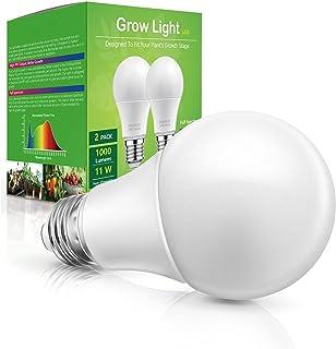 Grow Light Bulb Indoor Grow Light, WEEGrow Full Spectrum Plan Light Bulb, E26 Base 11W 230V Grow Light for Indoor Plants, ...