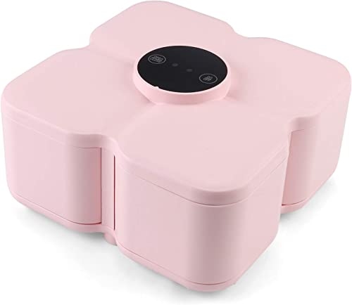 new arrival Smart Sensing Candy Dishes,4 No.5 Battery Drive.quare 4-disc Tray,Electric Induction,Automatic Closing, Prevent online Dry Fruit,Candy wholesale Damp.Suitable for Family Wedding, Festival Party. (Pink) online sale
