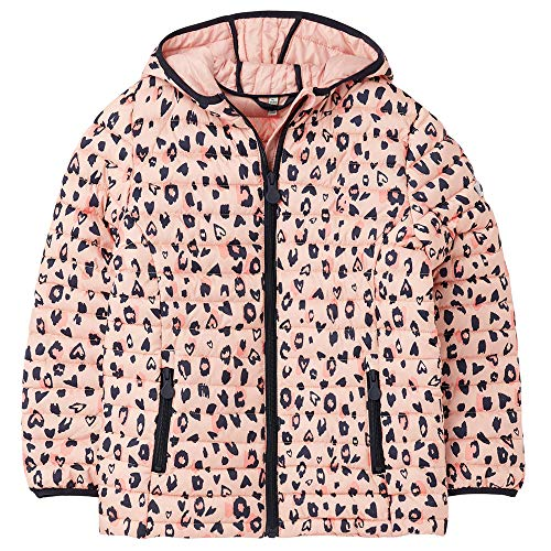 Joules Mädchen Kinnaird Print Wattierte Jacke, Rosafarbener Leopard, 5