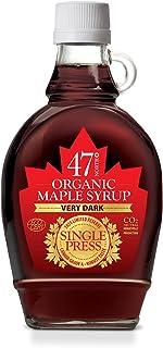 Esdoornsiroop 47 North Canadian Organic SINGLEPRESS Syrup, Very Dark, Robust 250g LIMITED EDITION