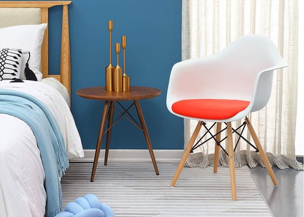 Chaise de Salle à Manger Chaise de salle à manger rembourrée de table de négociation rembourrée de balustrade de tabouret de bar en bois massif (Color : Black) White