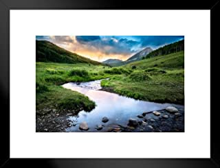 Poster Foundry Crested Butte Colorado Rocky Mountains Landscape Photo Matted Framed Art Print Wall Decor 26x20 inch