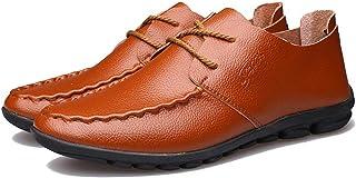 [QIFENGDIANZI] ドライビングシューズ メンズ おしゃれ 紳士靴 スリッポン 快適 ソフト コンフォート 全5色 レッド ブラウン ダークブラウン ネイビー イエロー ブラック 24.0cm-27.0cm