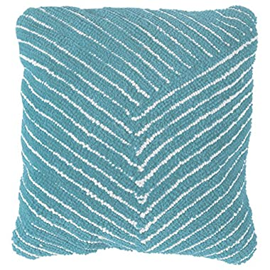 Lavish Home 66-09-DB Modern Throw Pillow, Dreamy Blue