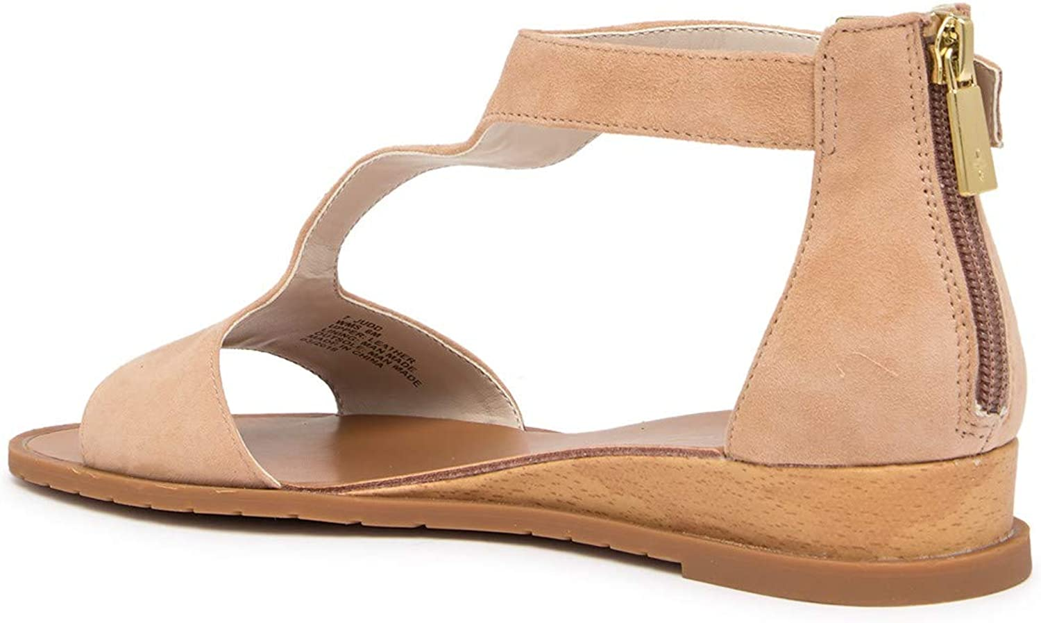 Kenneth Cole Womens 7 Judd Leather Open Toe Casual Ankle Strap, Buff, Size 6.5