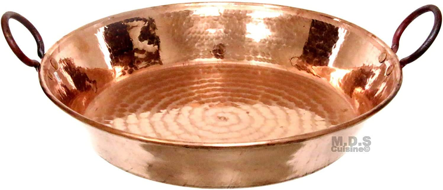 """Paella Pan 13"""" Limited time Popular product trial price Cazuela De Pure Cobre Handmade 100% Hammered"""