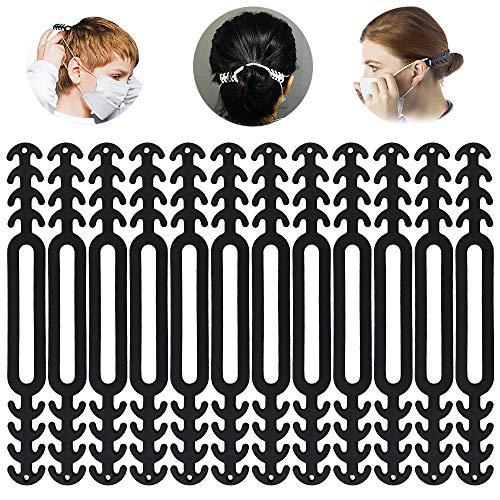 ZesNice 12PCS Maske Extender, Maskenhaken Anti-Tightening Ohrhaken Ohrhaken für Maske Ohr Protector Haken Ohrriemen Zubehör Ohrverlängerungsmaske Schnalle...