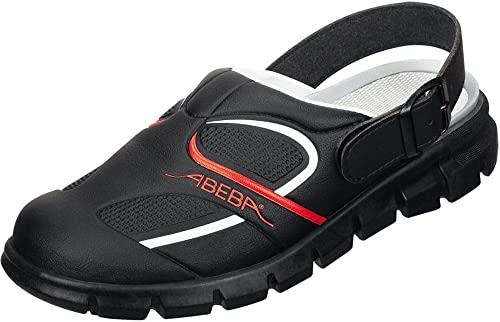 Abeba 7332-44 Dynamic Chaussures sabot Taille 44 Noir Rouge