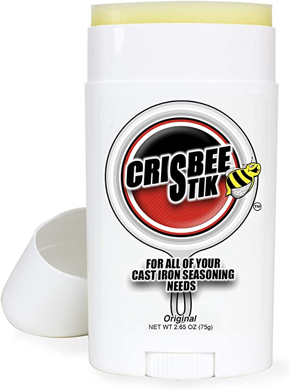 Crisbee Stik Cast Iron Skillet Cleaner by Crisbee - Seasoning Oil & Conditioner - Voted the Best Cast Iron Seasoning Oil & Conditioner by the Experts