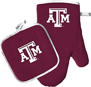 Pro Specialties Group Oven Mitt and Pot Holder Set - Barbeque BBQ Kitchen Backyard Outdoors - NCAA - Texas A&M Aggies