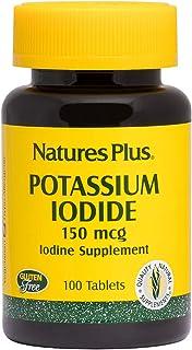 NaturesPlus Potassium Iodide - 150 mcg, 100 Vegan Tablets - Thyroid Support Supplement, Supports Respiratory Health - Vege...