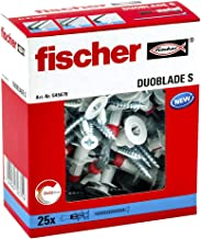 Fischer Duoblade S 545676 - Tacos de yeso autoperforante, incluye tornillos, tacos para placas de yeso, tacos para placas ...