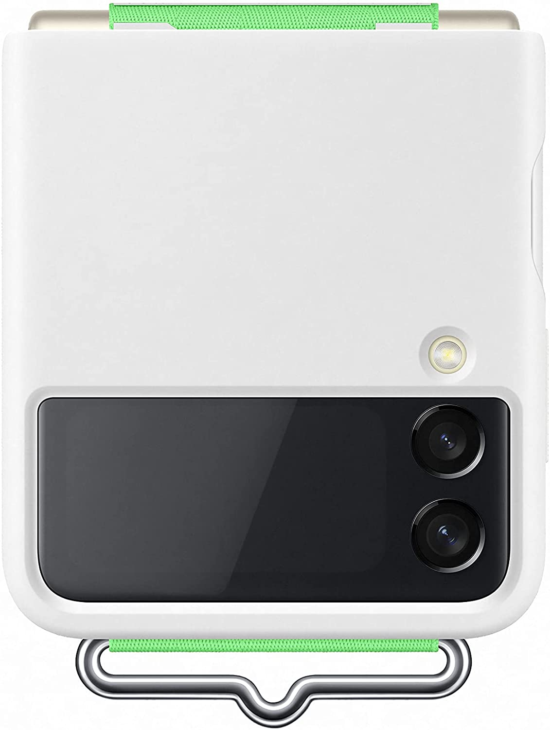 Samsung Galaxy Z Flip3 Silicone Cover with Strap - Official Samsung Case - White
