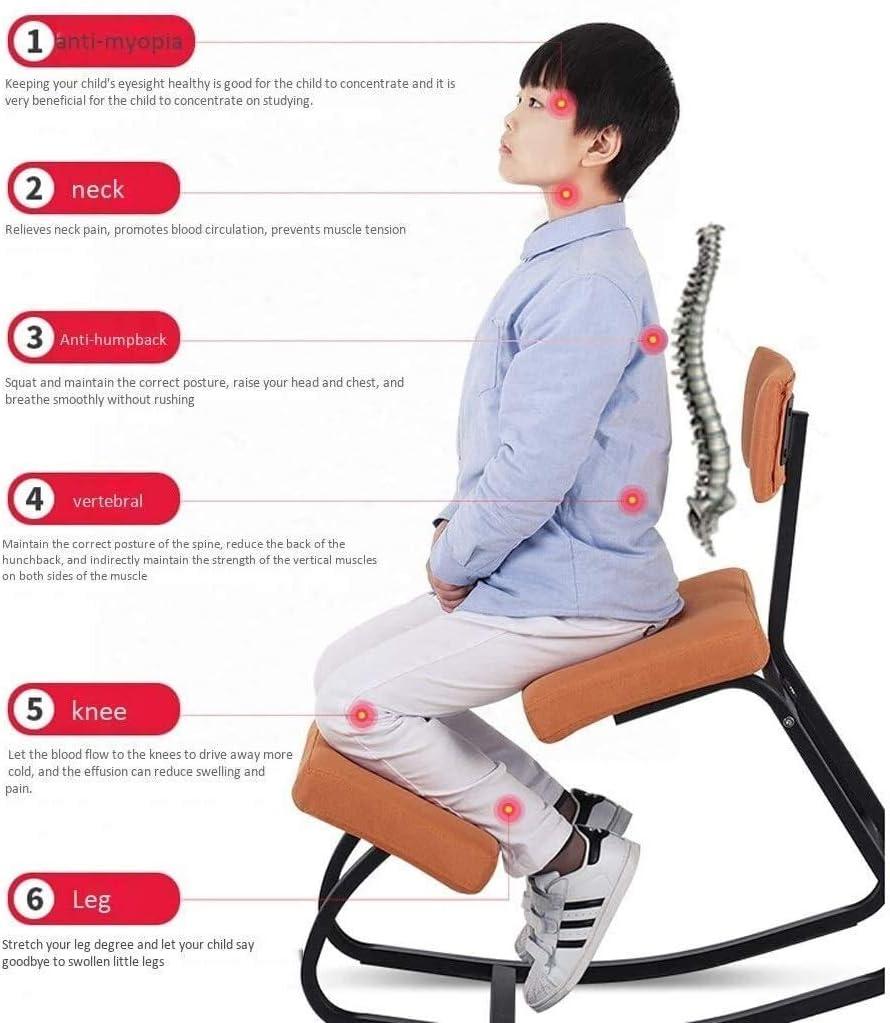 YLJYJ Chaises à Genoux Chaise de Bureau Ergonomique Tabouret orthopédique pour favoriser Une Bonne Posture et Aider à réduire Les maux de Dos (Couleur: Rose) Orange
