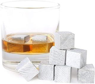 9er SET Whisky Steine aus Speckstein - Original Whiskey Stones Kühlsteine
