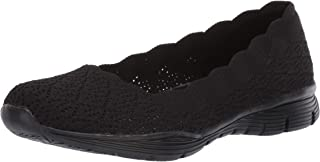 Skechers SEAGER - INFIELD - Scalloped Engineered Knit Skimmer womens Ballet Flat