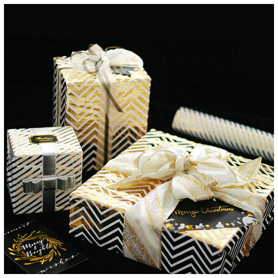 Gift Wrapping Paper Roll for Birthyday Holiday Wedding Baby Shower Gift Wrap - 4 Paper in 1 Roll