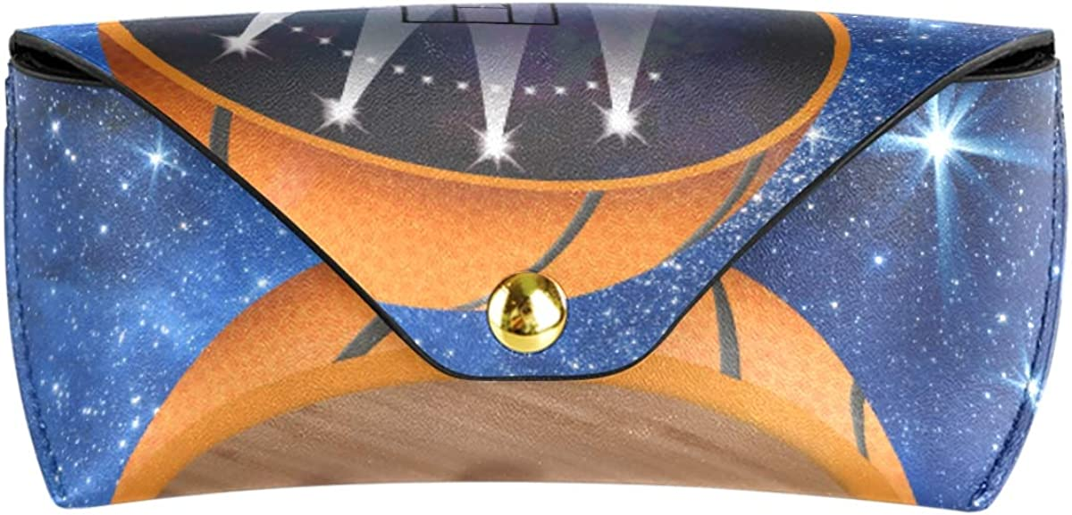 Portable Sports Abstract Basketball Stadium Multiuse Sunglasses Case Eyeglasses Pouch PU Leather School Goggles Bag