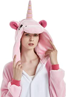 LONGTEN Fleece Onesie Pajamas for Women Men Adult Cartoon Animal Unicorn  Christmas Halloween Cosplay Onepiece Costume b0cb64391