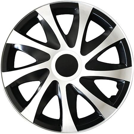 Autoteppich Stylers Farbe Und Größe Wählbar 16 Zoll Radkappen Draco Schwarz Weiß Passend Für Fast Alle Fahrzeugtypen Universal Auto