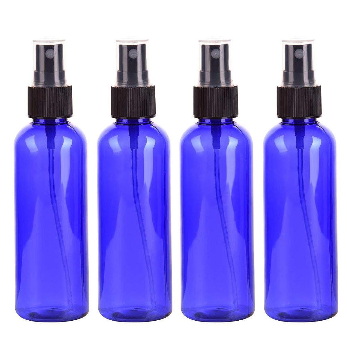 クラウン売上高渦4本セット スプレーボトル 3色おしゃれ PETボトル 100ml (A)