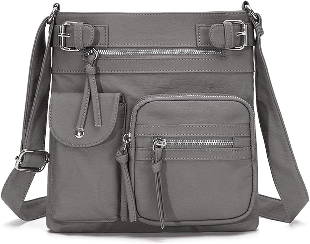 KL928 Crossbody Purses for Women Shoulder Bag,PU Washed Leather