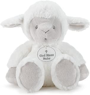 DEMDACO God Bless Baby Cross Serenity Lamb Bright White Children's Plush Stuffed Animal