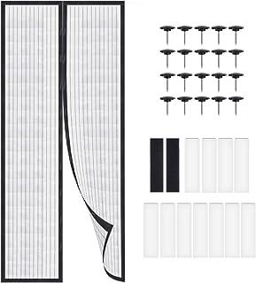 LYTIVAGEN Mosquitera Puertas, Mosquitera Magnética para Puertas 90*210cm Cortina Protección contra Insectos para Prevenir Moscas, Abejas, Mosquitos y Otros Insectos Voladores (Negro)
