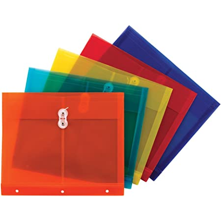 String-Tie Closure 1-1//4 inch Expansion Envelope 5 per Pack