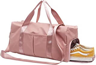 DOURR Gym Bag Waterproof Duffle bag with Shoes Compartment Swim Bag Dry Wet Depart Travel Weekender Bag for Women Men