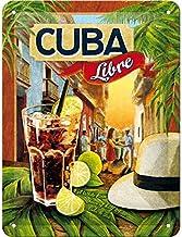 Nostalgic-Art - Placa metálica Decorativa (15 x 20 cm), diseño Cuba Libre