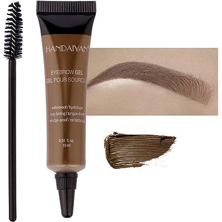Mimore Gel para cejas Profesional impermeable resistente al sudor Tinte en crema para cejas de larga duración Tinte de cejas de larga duración con ...
