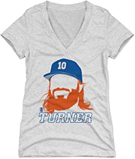 500 LEVEL Justin Turner Women's Shirt - Los Angeles Baseball Shirt for Women - Justin Turner Silhouette