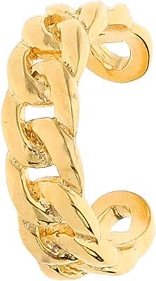 TOSH 1001952 - Orecchini a lobo in argento 925 placcato oro, effetto collana
