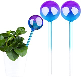 """2-Pack 10"""" Long Gradient Color Glass Plant Self Watering Globs, Automatic Aqua Spike Bulb Decorative Indoor and Outdoor Ga..."""