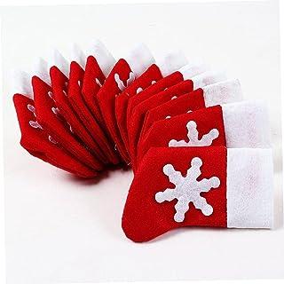 Kerst Bestek Houders Set 12 stks Kousen Kerst Vork Tas voor Diner Party Xmas Tafel Decor