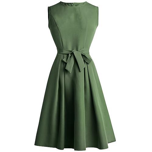 EEAMDRK Women's Elegant Audrey Hepburn 1950s Vintage Dress
