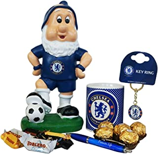 Father's Day Chelsea FC gift set with Gnome, Mug, Toblerone, Ferrero Rocher and Keyring