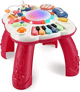 Dahuniu Baby Toys 6 to 12 Months, Learning Musical Table, Activity Table for 1 2 3 Years Old, 11.8 x 11.8 x 12.2 inches ( ...