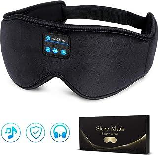 LC-dolida Antifaz para dormir con Bluetooth, con auriculares, para viajes con avión, dormir, máscara con auriculares Bluetooth para iPhone, Android, iPad, tabletas Antifaz para dormir Upgrade