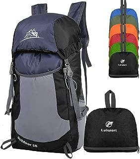 LUISPORT Foldable Backpack, 35L Waterproof Packable Hiking Backpack, Durable Hike Backpack Camping Backpack Camp Backpack