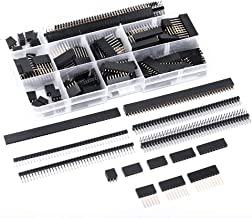 MCIGICM 134 Pcs 2.54mm Male and Female Pin Header Connector Assortment, 120 Pcs Needle Stackable headers and 14 Pcs Row PCB Pin Header