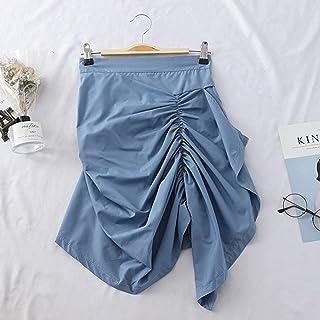 Falda Mujer Falda Plisada Irregular para Mujer, Novedad De Verano, Bolso De Temperamento para Mujer, Falda A La Cadera, Fa...