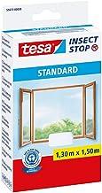 tesa Insect Stop Standaard vliegengaas voor ramen, op maat te knippen, muggennet, muggenbescherming zonder boren, wit, 130...
