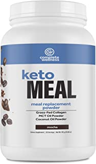 Complete Wellness Keto Meal Replacement, Mocha Flavor, 20 Servings - Great For Keto Diet