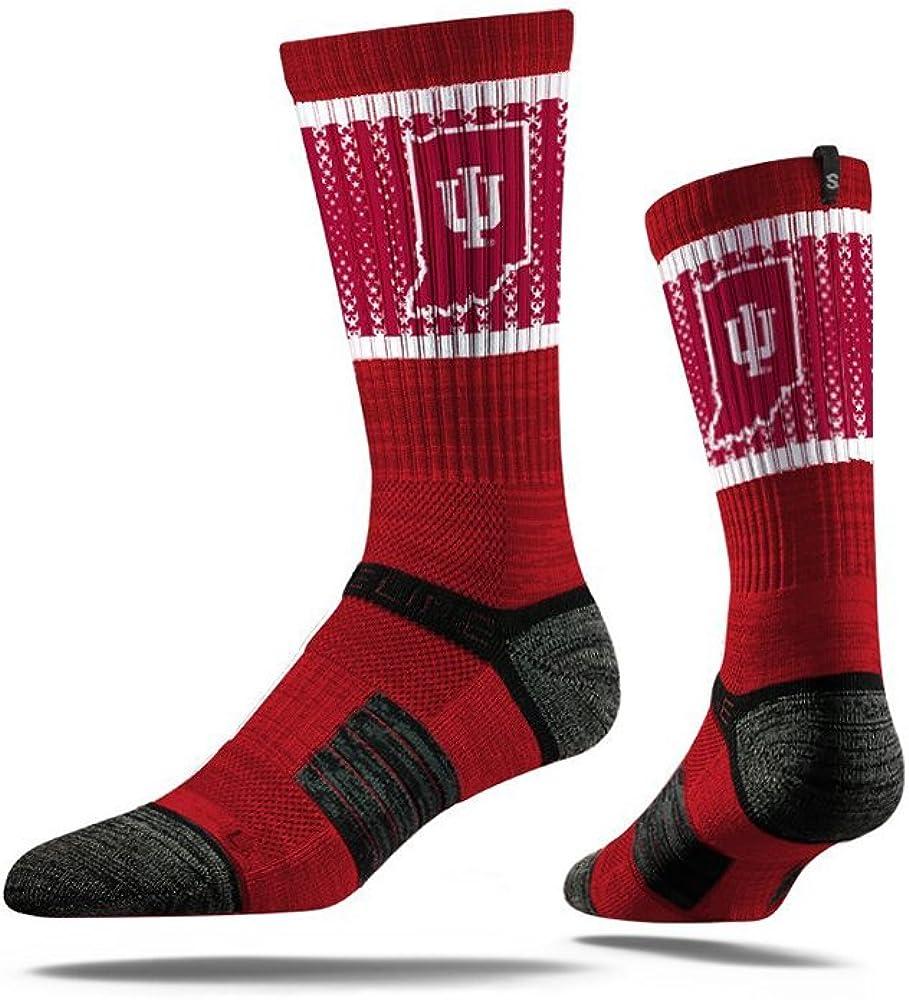 Indiana Hoosiers Boston Mall Strideline Youth Socks Bargain Crimson Calf Logo