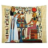 WERT Tapiz de faraón Egipcio, Tapiz Familiar para Colgar Junto a la Cama, Tela de Fondo, decoración Viva, Tapiz de Tela A9 150x200cm